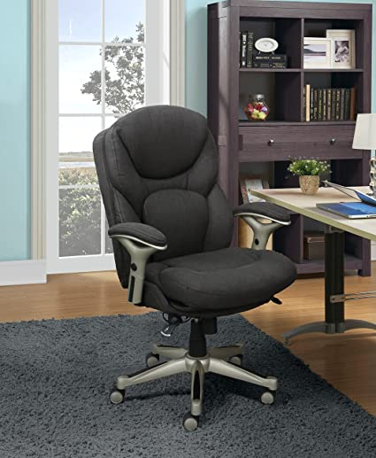 U Serta Works Ergonomic Executive Office Chair With Back In Motion  Technology Dark Gray Fabric