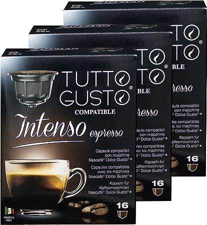 Gusto espresso intenso Tutto, café, compatible con Nescafé Dolce Gusto máquinas, cápsulas{48}: Amazon.es: Hogar