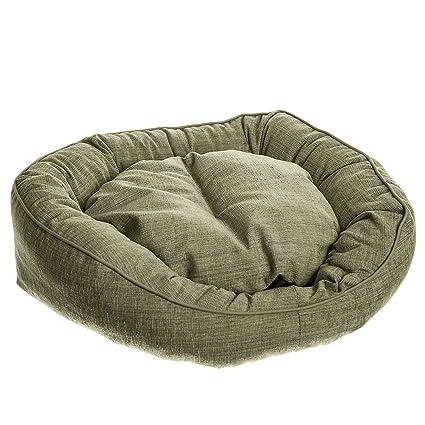 Cama para Gatos y Perros Tipo Donut Ovalado (50x60cm, Verde)