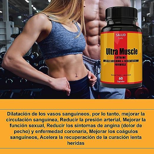Extra Strength Suplemento Vitaminas para Musculos | Suplementos para Ganar Masa Muscular...