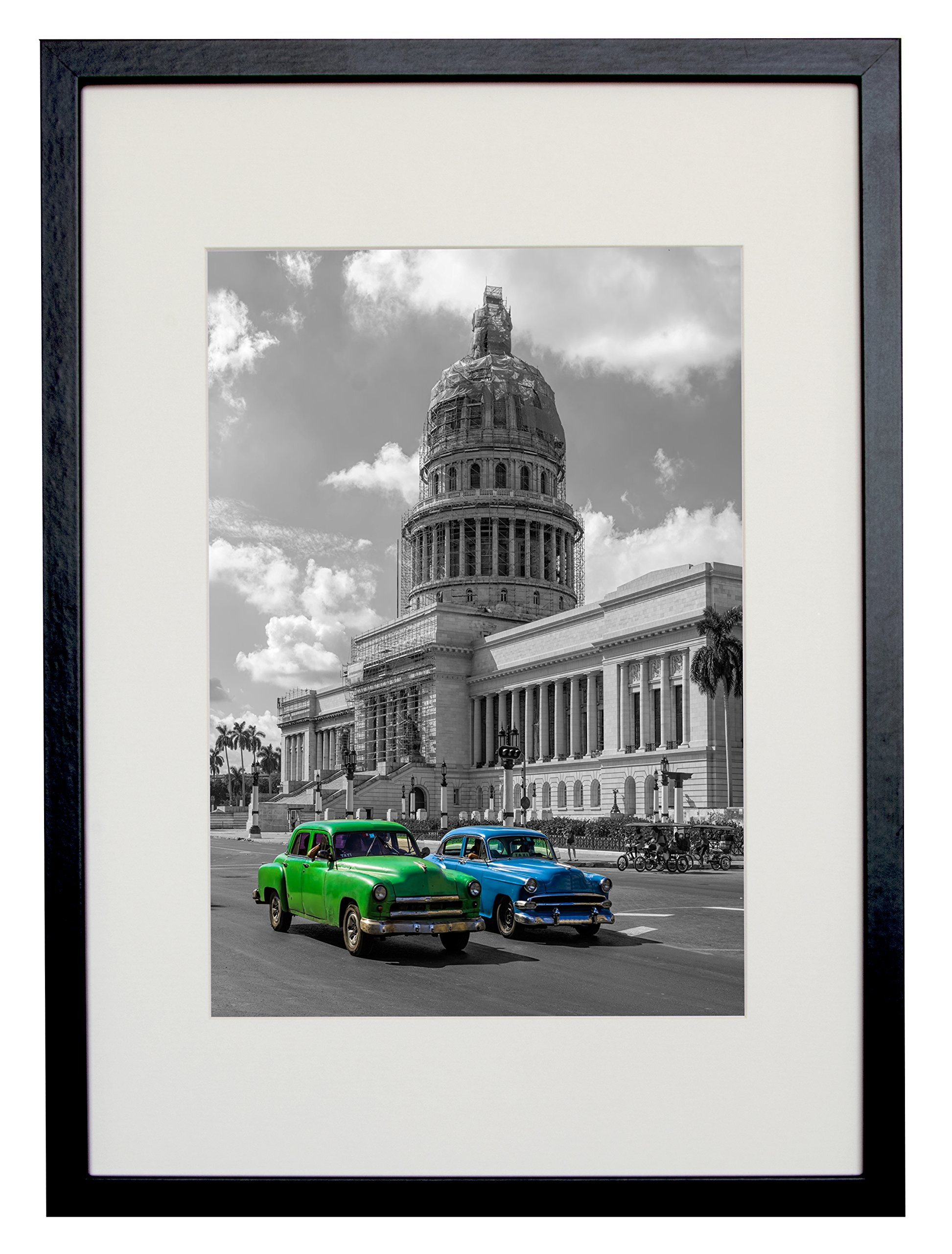 BD ART 29.7x42 cm (A3) Black Picture Frame with Mat for Photo 21x30 cm (A4) by BD ART