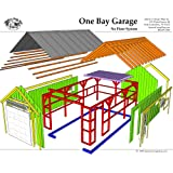 Timber Frame Post and Beam Cabin Plans - 8x10 Bunkie - Four
