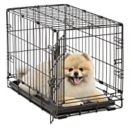 MidWest Homes for Pets Dog Crate | iCrate Single Door & Double Door Folding Metal Dog Crates | Fully Equipped