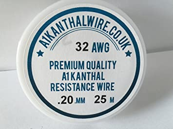 Kanthal A1 Typ Widerstand Draht – (32awg) 0,20 mm – 25 Meter Spule ...