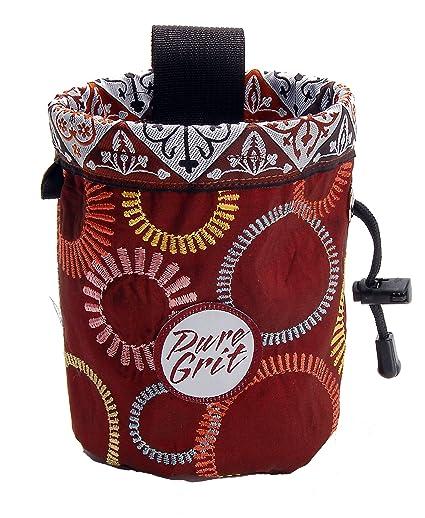 Amazon.com: Pure Grit Borgoña ruedas 2 bolsa para gis (EE ...