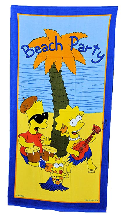 Toalla de playa/toalla de baño (The Simpsons con lisa, Maggy y Bart