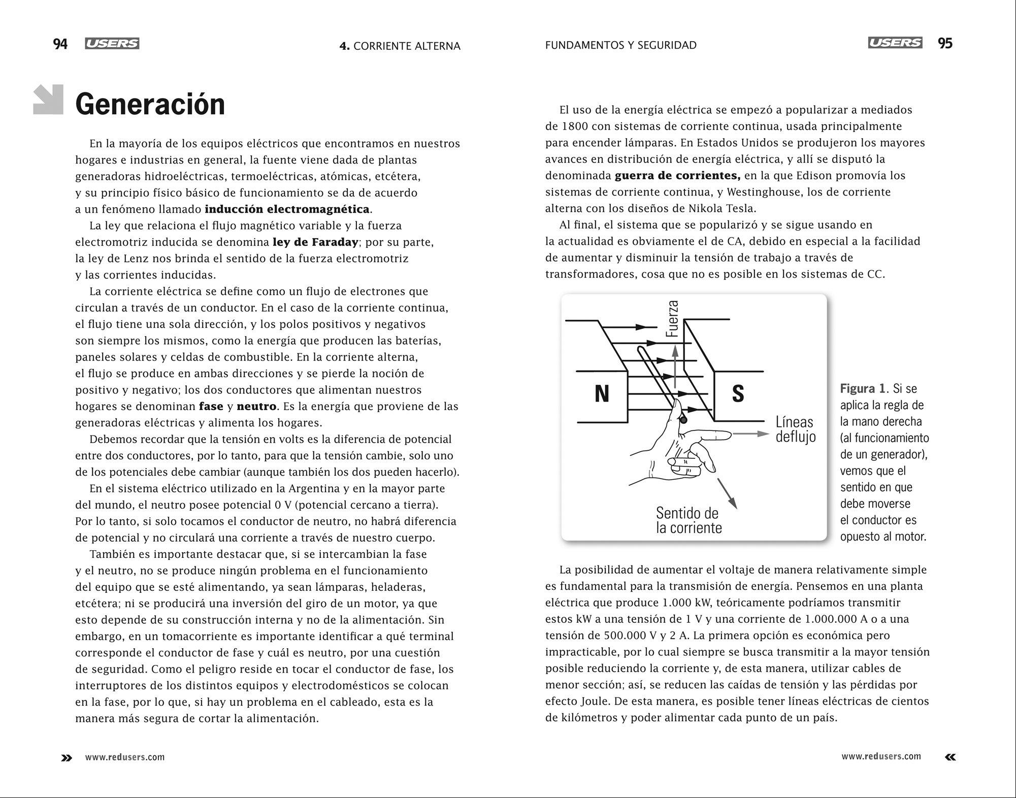 Electricidad 1: Fundamentos y Seguridad (Spanish Edition): Users Staff, RedUsers Usershop, Español Espanol Espaniol, Libro libros Manual computación ...