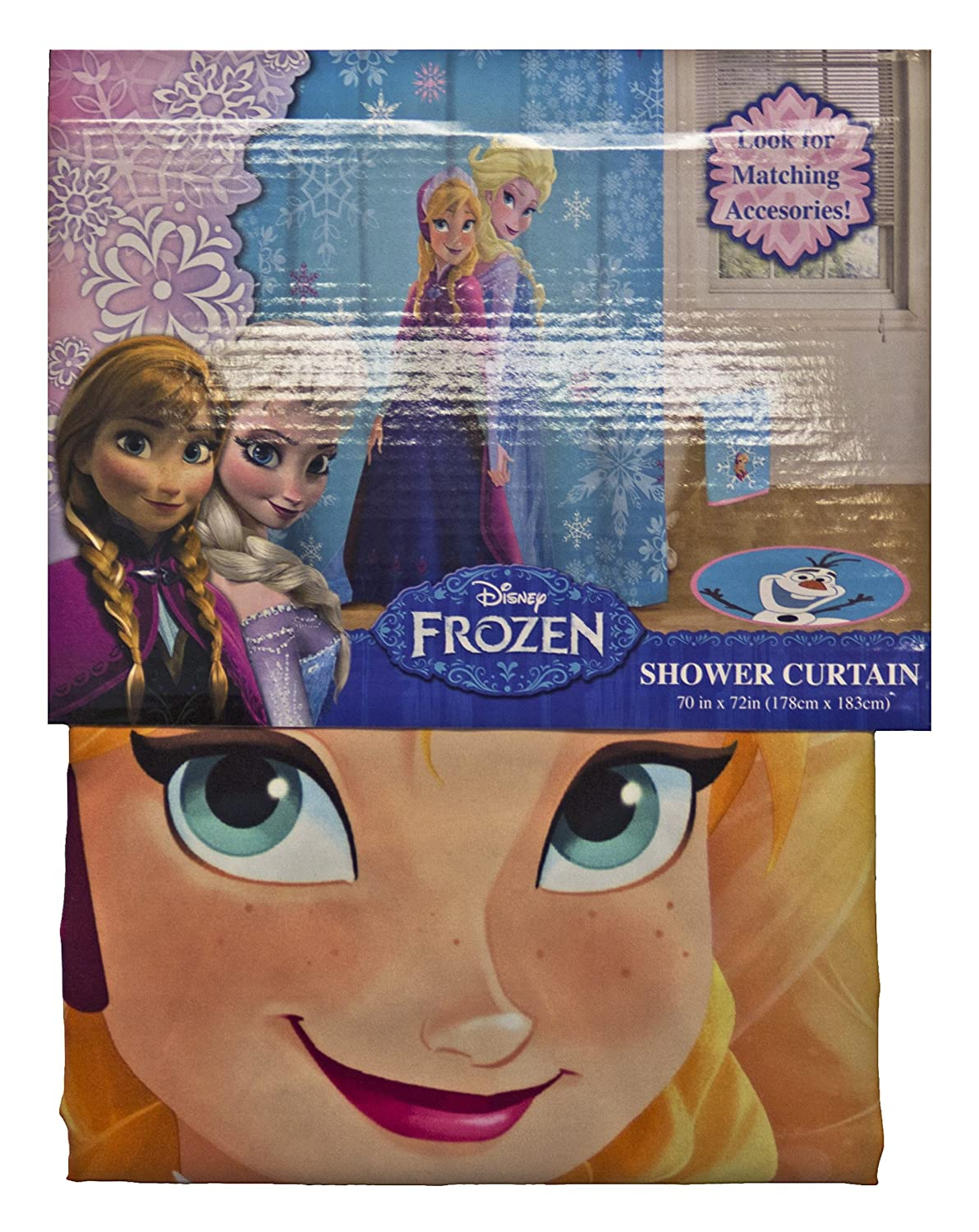 Disney Frozen Snowflake Sisters Shower Curtain Jay Franco and Sons Inc JF00970KM