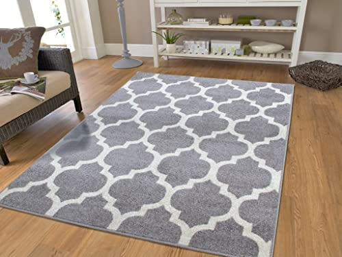 Gray Moroccan Trellis 7 10×10 6 Area Rug Carpet Large New Rugs for Living Room, Large 8×11