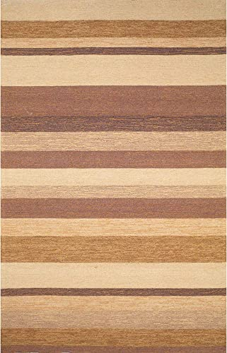 Liora Manne Ravella Stripe Rug, Indoor Outdoor, 5-Feet by 7-Feet 6-Inch, Sand