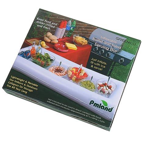 Amazon.com: pmland Bar de la piscina inflable – Bandeja de ...