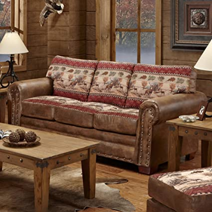 American Furniture Classics 8503 50 Deer Valley Lodge Sofa Large Tapestry