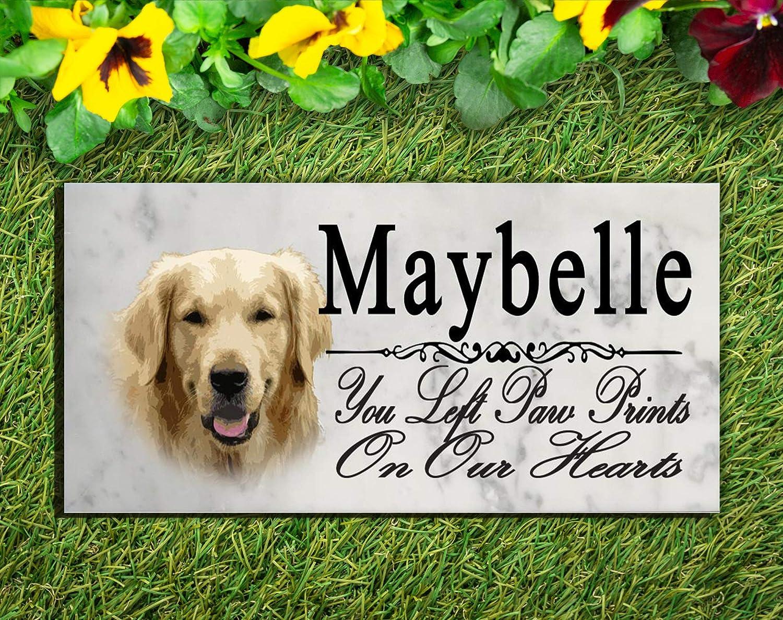 Broad Bay Golden Retriever Dog Memorial Stone Personalized Golden Retriever Sign Garden Marker Outdoor Grave Headstone Plaque
