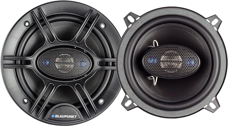 Set of 2 Blaupunkt 5.25-Inch 300W 4-Way Coaxial Car Audio Speaker