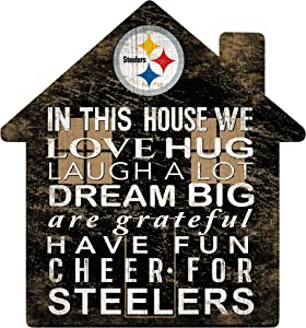 Fan Creations NFL Pittsburgh Steelers Unisex Pittsburgh Steelers House Sign, Team Color, 12 inch