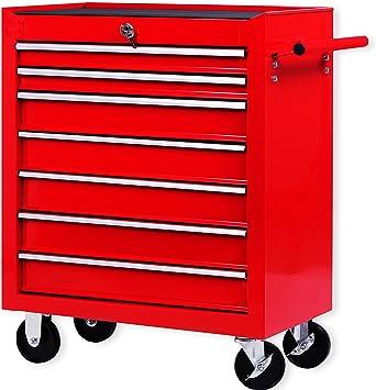 Masko® - Carro de taller con ruedas, carro de herramientas, caja ...