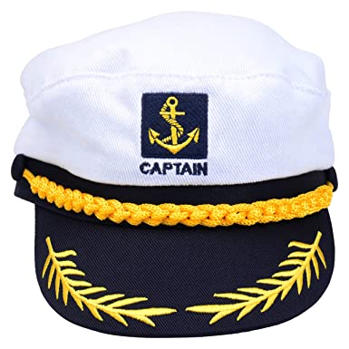 Amazon.com  Perfect Order Adult Captains Hat Yacht Cap Standard (Black)   Clothing d972640b973