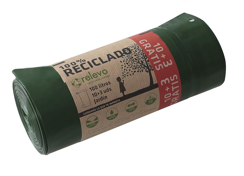 Relevo 31 crel001 Nachfolger recyceltes Mü llbeutel auto-cierre von Kapazitä t 100 Liter, 13 Stü ck 31CREL001