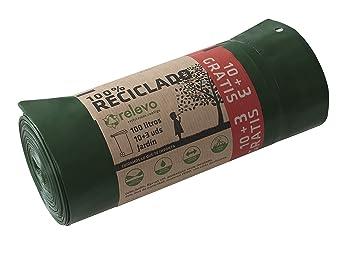 RELEVO - Bolsa Basura 100% Reciclado autocierre 100 litros ...
