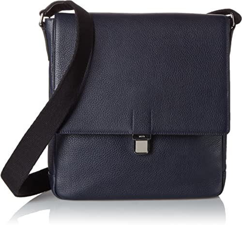 the latest eb974 d7d0e Ecco Jos Crossbody, Men's Shoulder Bag, Blau (Blue), 6x25x23 ...