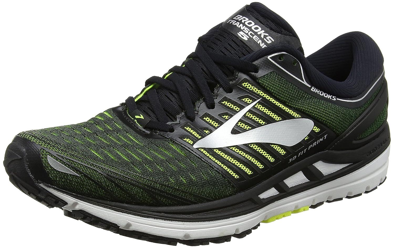 Brooks Transcend 5, Zapatillas de Running para Hombre 42 EU Multicolor (Black/Nightlife/Silver 069)