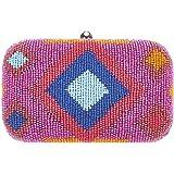 From St Xavier Women's Dakota Box Clutch, Orange/Blue, One Size