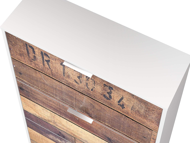estampado Armario zapatero de 3 puertas Marca  -/Movian Idro Modern 25 x 75 x 128 cm