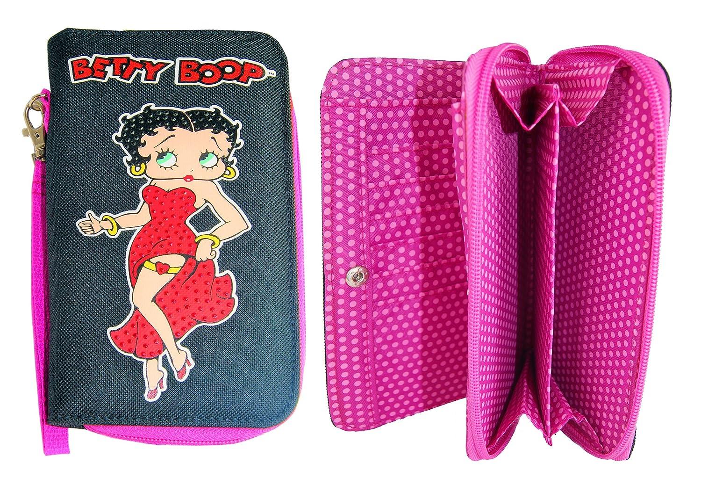 Betty Boop ¡El monedero negro y rosado hermoso, carpeta para ...