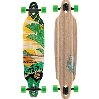 Sector 9 Lookout Complete 41 Inch Bamboo Drop Through Longboard for Carving and Commuting : Sports & Outdoors