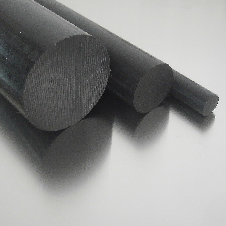 45cm Polyamid PA6 Rundstab schwarz /Ø 25mm L: 450mm Rundmaterial Zuschnitt