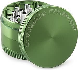 Chromium Crusher 2.2 Inch 4 Piece Tobacco Spice Herb Grinder - Green