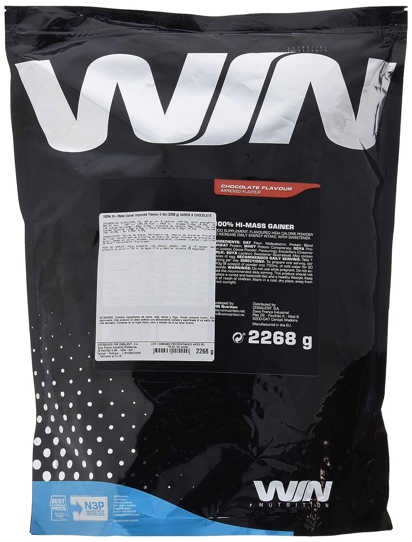 Win Nutrition 100% Hi-Mass Gainer Improved Flavour Chocolate - 2268 gramos: Amazon.es: Salud y cuidado personal