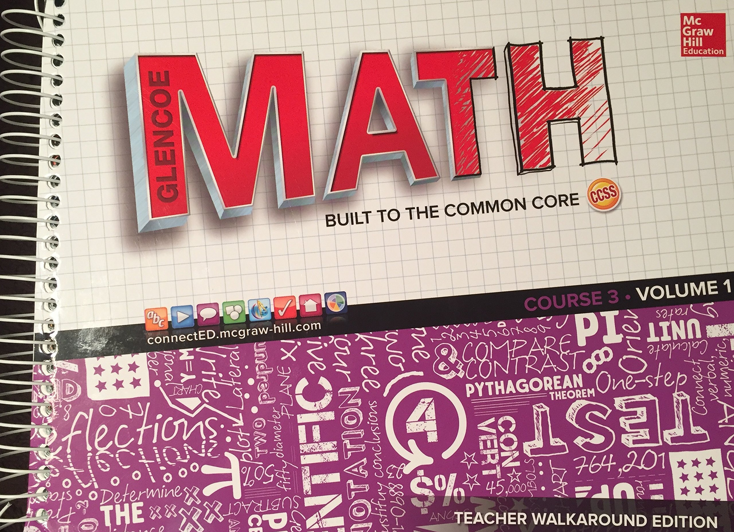 Download Glencoe Math Built to the common core Course 3 Volume 1 Teacher walkaround edition PDF