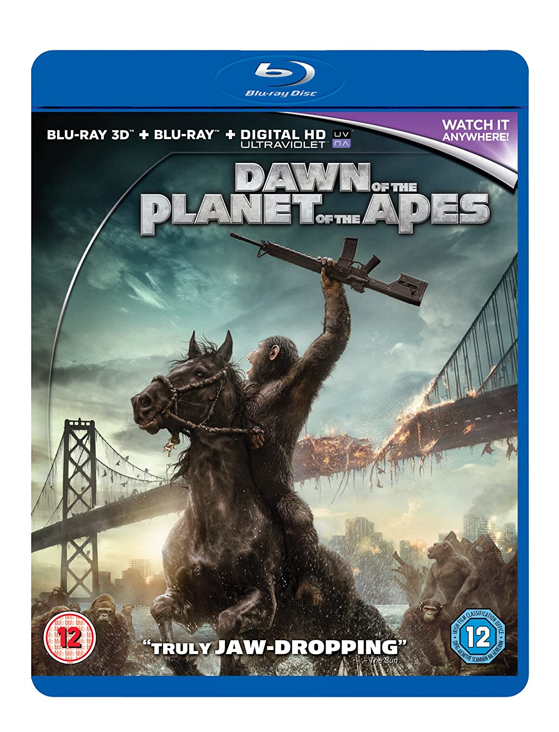 Dawn of the Planet of the Apes [Blu-ray 3D + Blu-ray] Gary Oldman Andy Serkis Matt Reeves MSE1273637
