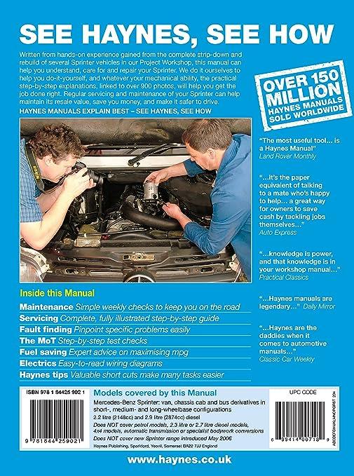mercedes sprinter shop manual