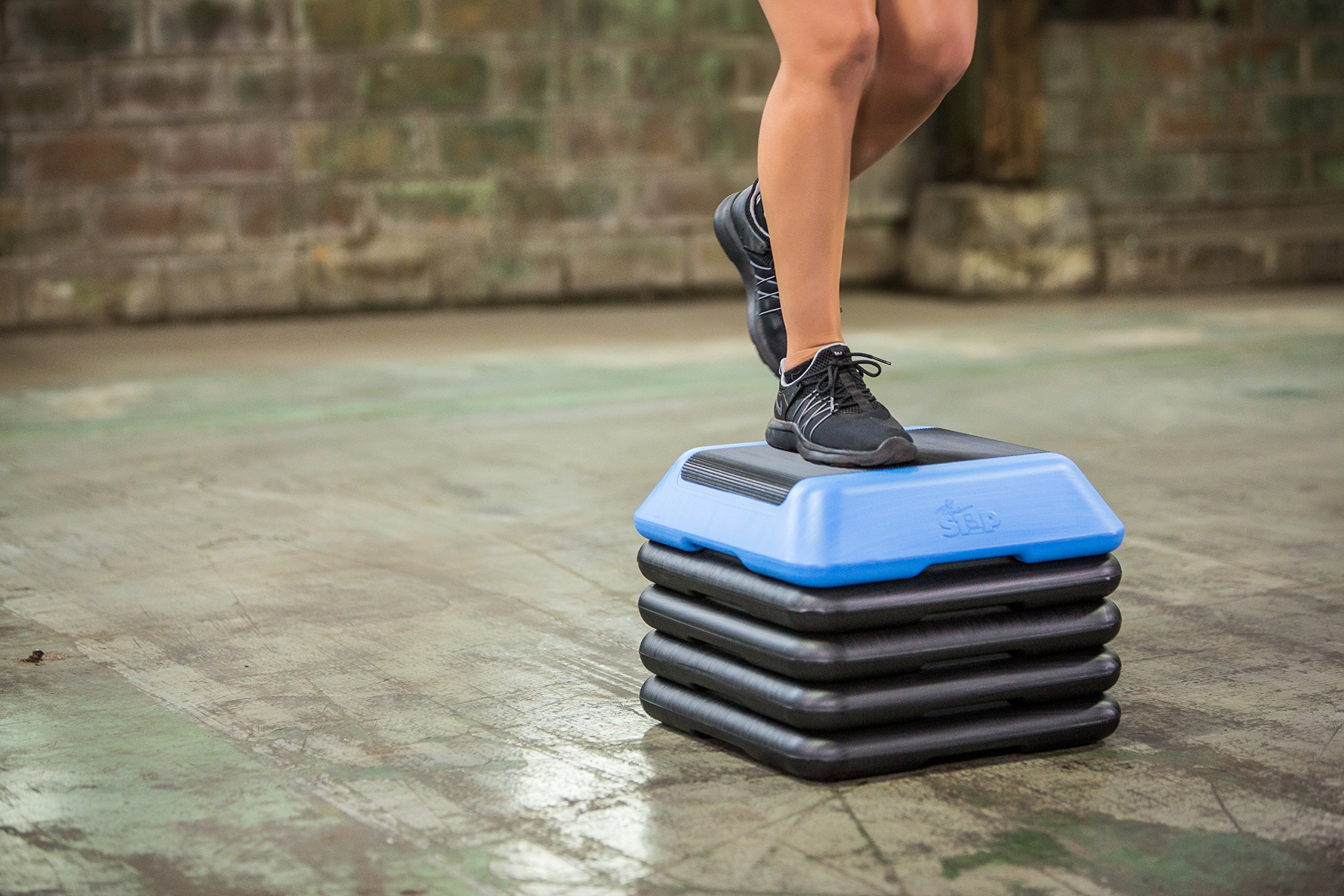 The Step High Step Aerobic Exercise Nonslip Platform Includes 4 Risers and Streaming Workout Videos by The Step (Image #9)