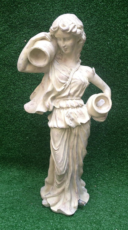 Cream Grecian Lady with Urn Garden Pond Water Feature Statue