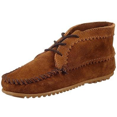 Minnetonka Suede Ankle Boot, Damen Kurzschaft Mokassin Boots, Braun (Dusty  Brown), 1193593e75