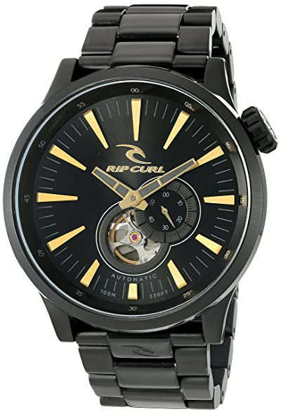 Rip Curl Men's 'Recon XL Auto Midnight SS' Japanese Automatic Stainless  Steel Sport Watch
