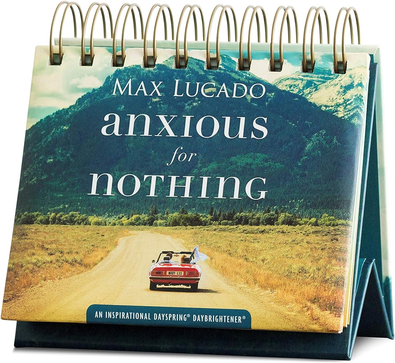 DaySpring - Max Lucado - Anxious for Nothing - Perpetual Calendar (10174), Multi, 5 1/4