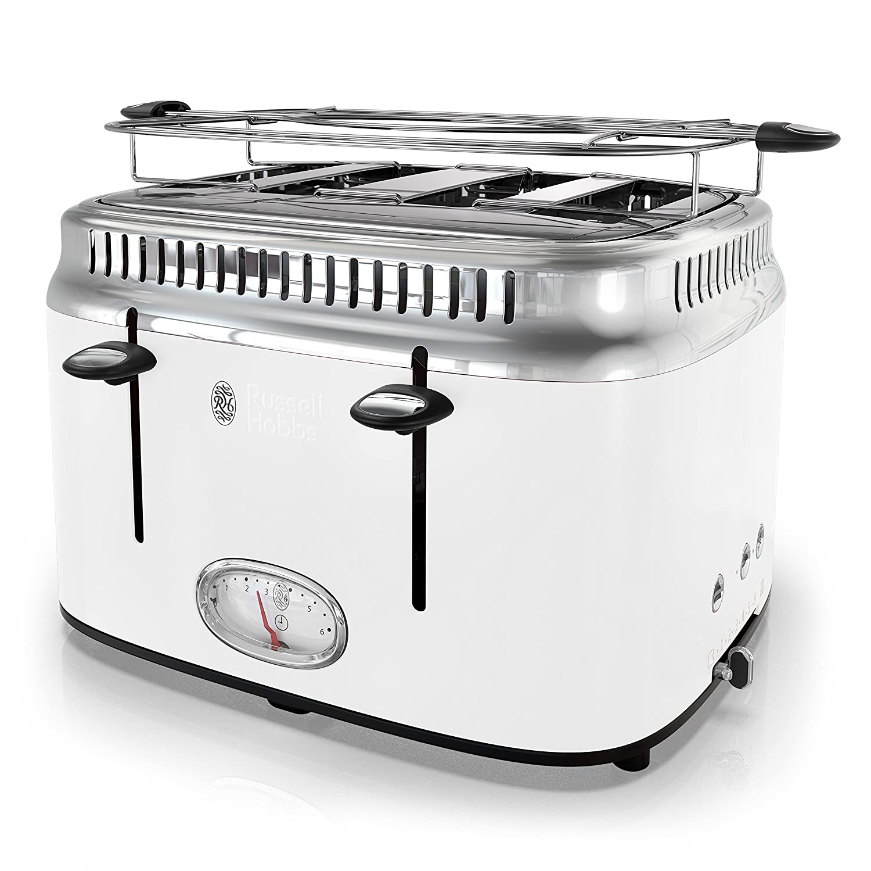 Russell Hobbs TR9250WTR Retro Style Toaster 4-Slice White