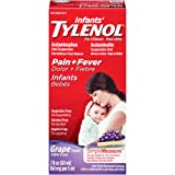 Infants' Tylenol Pain Reliever-Fever Reducer, Oral Suspension, Grape Flavor 2 Fluid Ounce