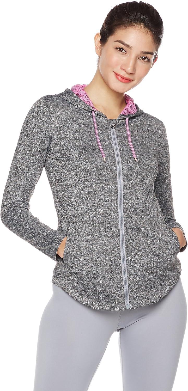 Mint Lilac Womens Full-Zip Workout Sports Hoodies Lightweight Running Track Jackets