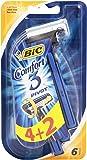 BIC Comfort 3–Pivot, afeitar 3Cuchillas desechables–Paquete de 6