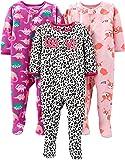 Simple Joys by Carter's Girls' - Conjunto de 3 Pijama de Forro Polar Resistente al Fuego