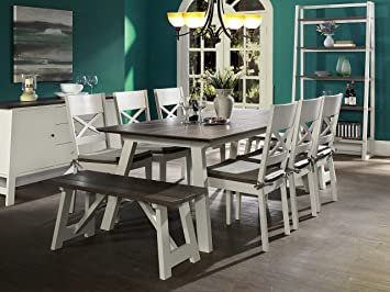 Amazon.com - Newport 9 Piece Extension Dining Table Set for 8 ...