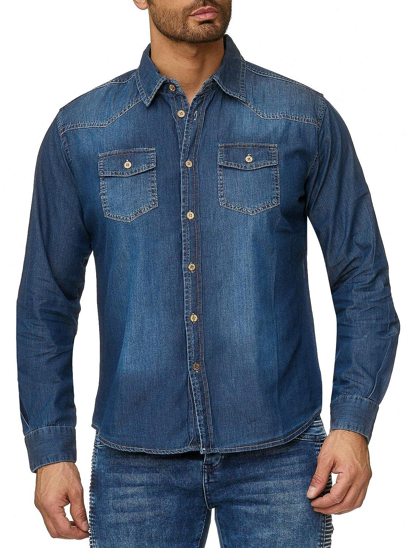 Reslad Herren Hemd Vintage Slim Fit Batik Style Langarmhemd RS-15054 Neu