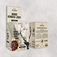 New | Nordic Reindeer Jerky with Sea Salt (Original Swedish) - Value Pack (12 x 25g) - Only Natural Ingredients…