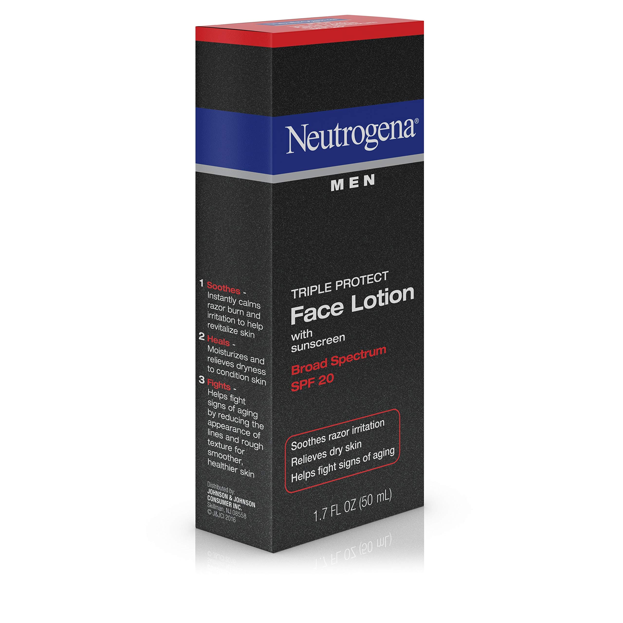 Neutrogena Triple Protect Men's Daily Face Lotion with Broad Spectrum SPF 20 Sunscreen, Moisturizer to Fight Aging Signs, Soothe Razor Irritation & Relieve Dry Skin, 1.7 fl. Oz (Pack of 2) by Neutrogena (Image #3)