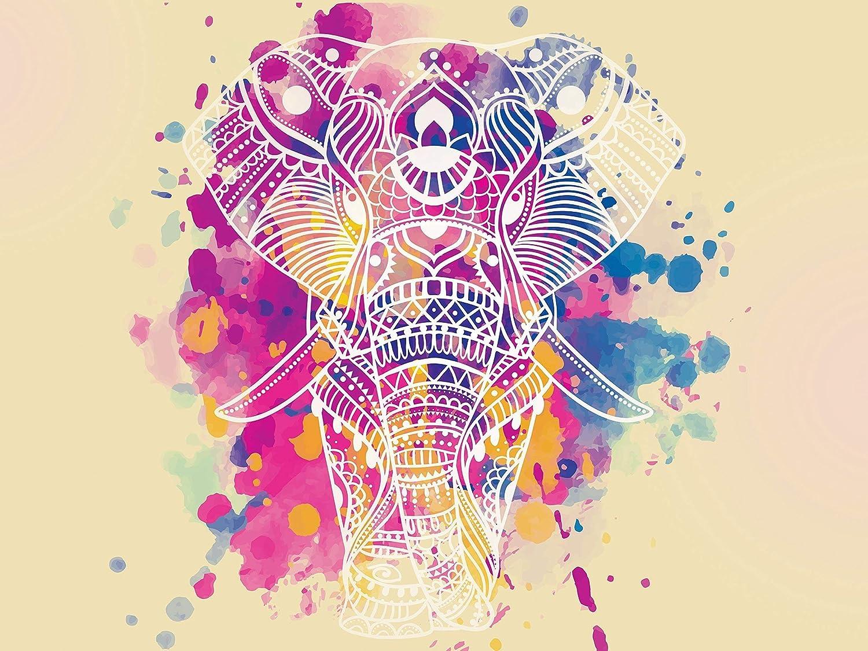 48x36 mandala elephant bohemian Abstract Poster Print Size 24x36 48x24 Large Watercolor Elephant Artistic Wall Art Decor Home Decoration Fine Art Poster Mandala Tapestry Wall decor Wall Art